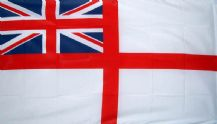 WHITE ENSIGN NYLON DELUXE QUALITY - 5 X 3 FLAG
